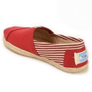 Toms Red Flats Excellent Condition